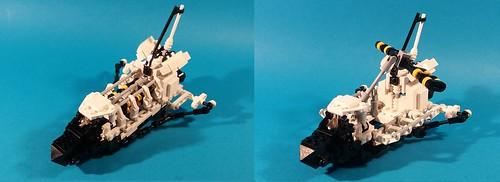 8480 Technic Space Shuttle in microscale | by goldsun19731