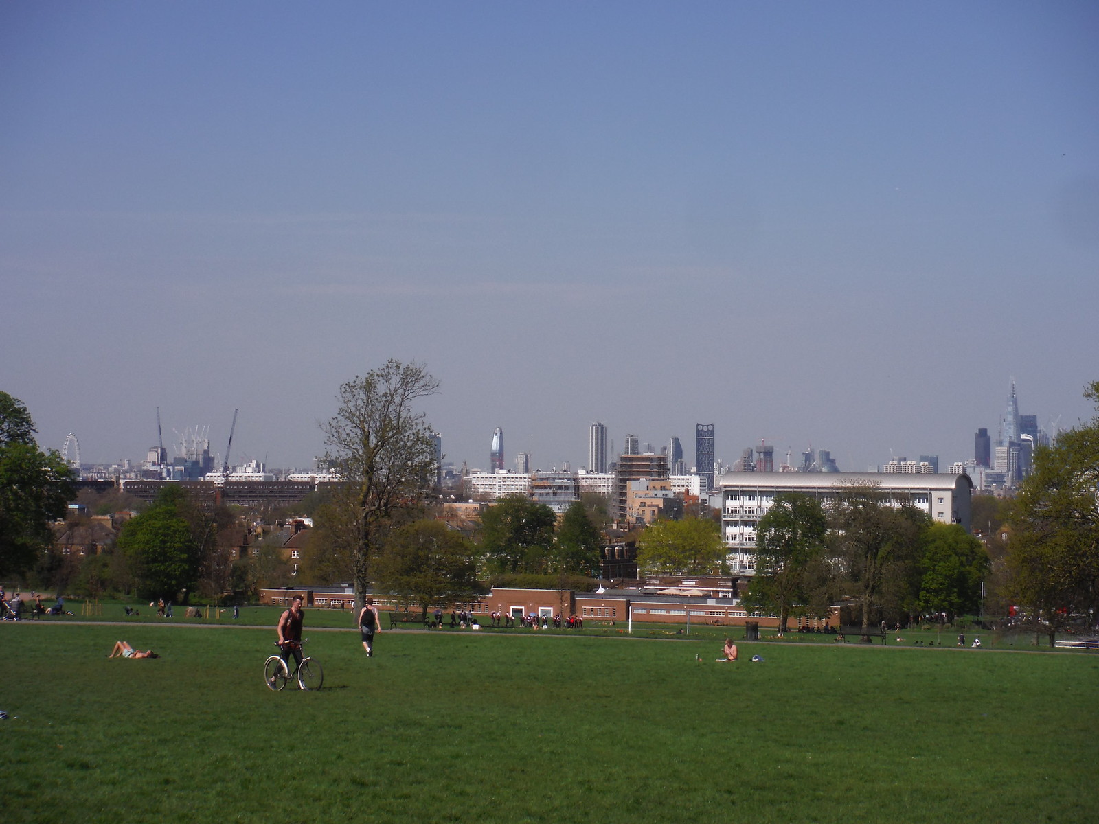 London Eye to The Shard, from Brockwell Park SWC Short Walk 39 - Brockwell Park (Herne Hill Circular or to Brixton)