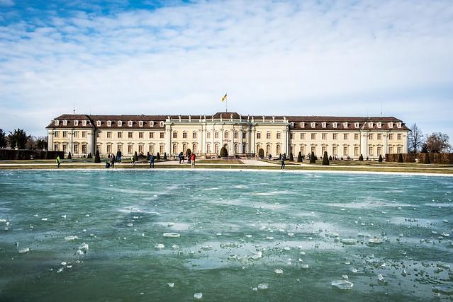 Iced Lake at Ludwigsburg Castle
