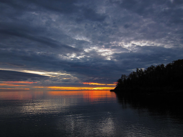Sunrise on Flood Bay . . .