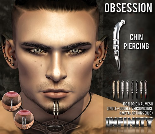 !NFINITY Obsession Chin Piercing @ Men Only Monthly | by infinity.owner