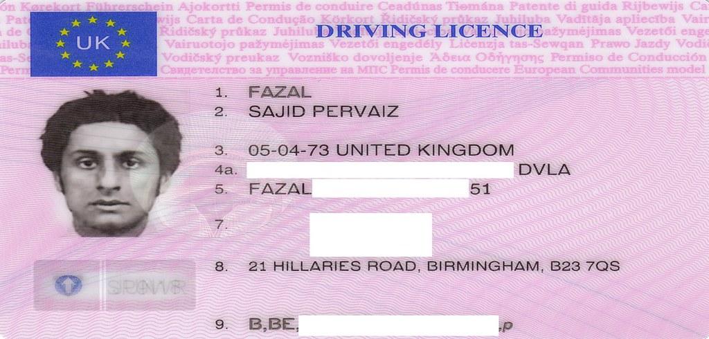 8 Uploaded 20… Uk Flickr 2 Pervaiz - Fazal Sajid Driving Licence