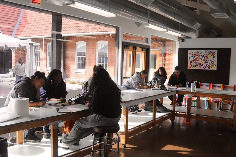 CAT visits Brenda's Art Class 11-6-2012
