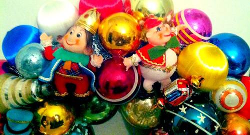 Vintage Ornament Christmas Wreath