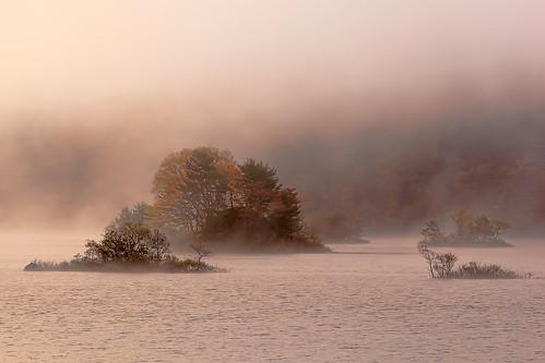 autumn lake fall fog sunrise 2012 urabandai fukushimapref akimotoko