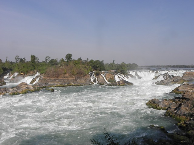 The waterfall at the southern end of Don Khone island, Laos