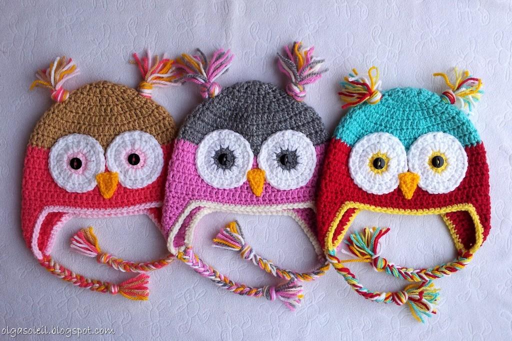 Crochet Owl Hats Olga Soleil Flickr