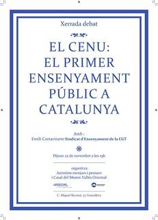 el CENU: El primer ensenyament public a catalunya.xerraada 22 de novembre al vallès oriental | by CGT Catalunya