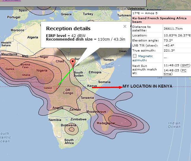 Amos 5 satellite footprint