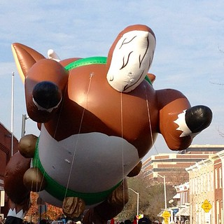 Flying Monster, Mayor's Christmas Parade, Hampden, Maryland. #baltimore