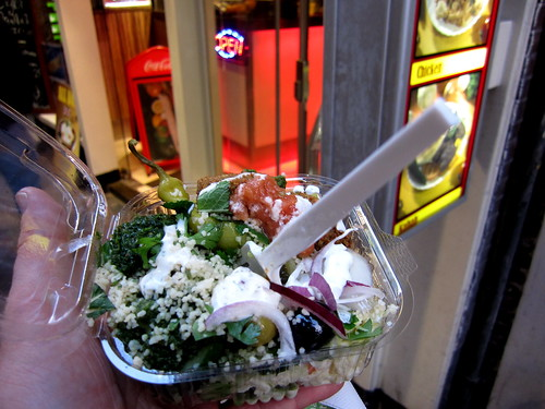 best value meal: falafel and pick your own fixin's at Maoz