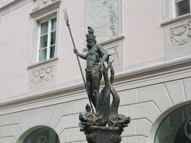 Neptune in Piazza Erbe at Bolzano - Bozen