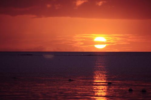 sunset sea sun beach canon horizon mauritius 550d 55250