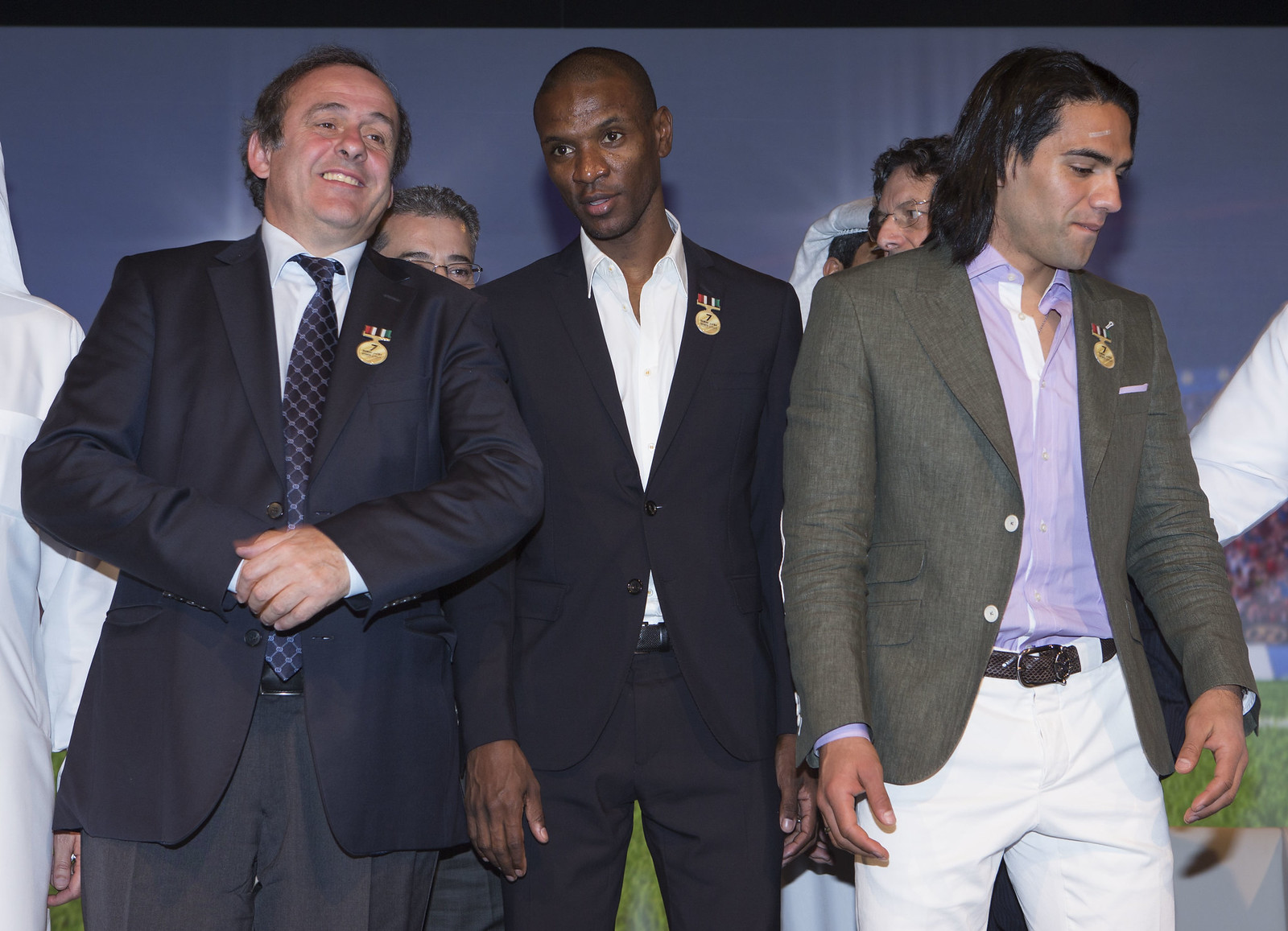 Michel Platini, Eric Abidal and Radamel Falcao