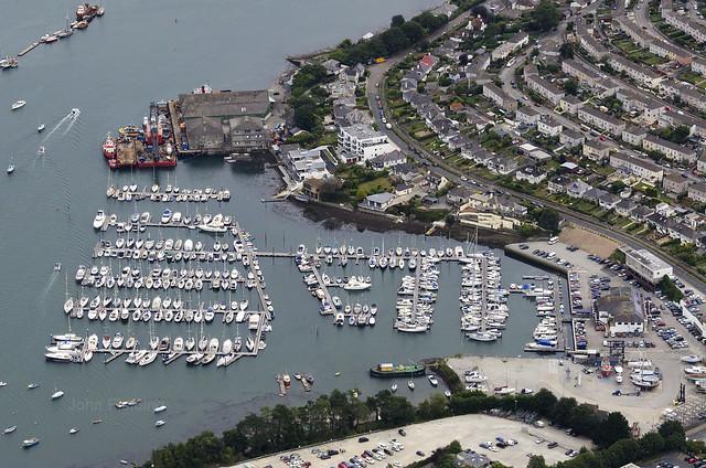 Falmouth Ponsharden Marina - Cornwall aerial image