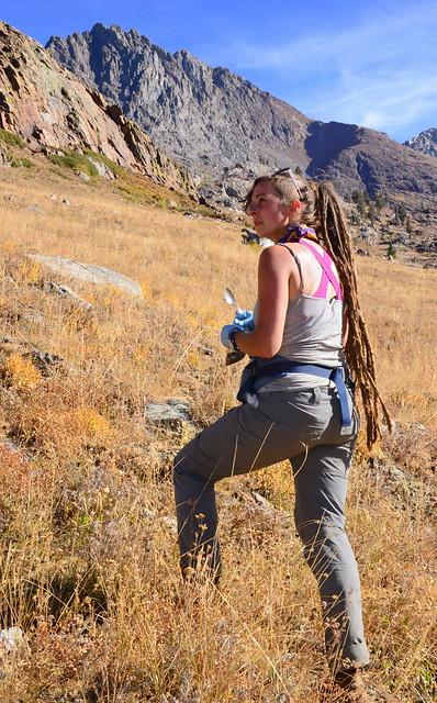 Jillian Myers, mycovirus hunting in Sequoia National Park's White Chief Canyon, California