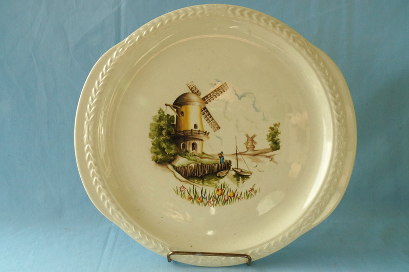 DSC01315 Vintage Plate with Windmill Design