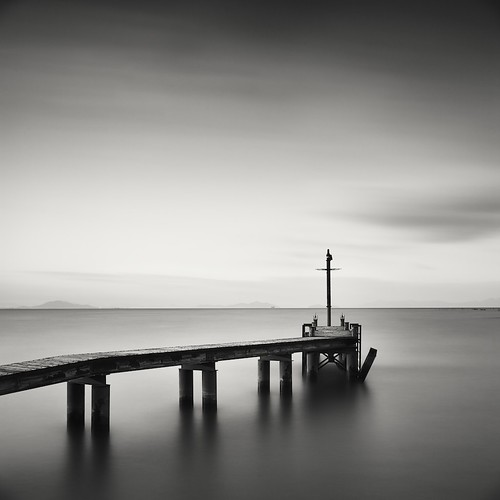 broken pier, Lake Biwa, Japan
