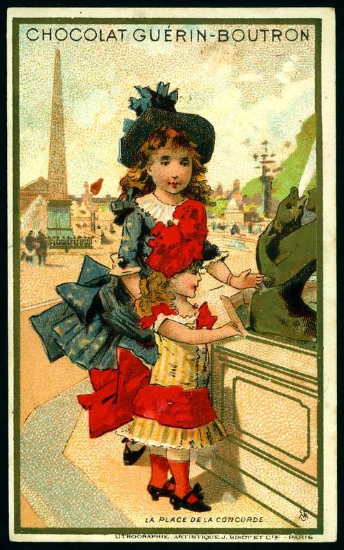French Tradecard - Pace de la Concorde