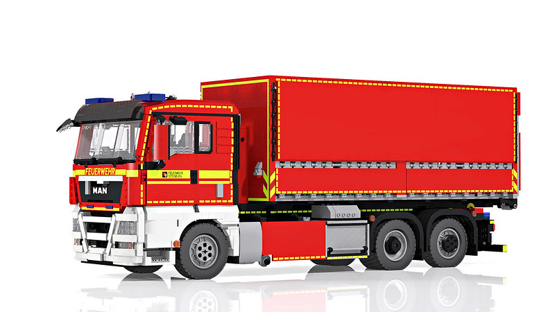 LEGO MAN TGX 26.400 hooklift truck - Wechselladerfahrzeug