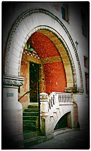 Trinity Church ~ Boston Mass ~ Snowing ~ My Old Film ~ Rector Entrance