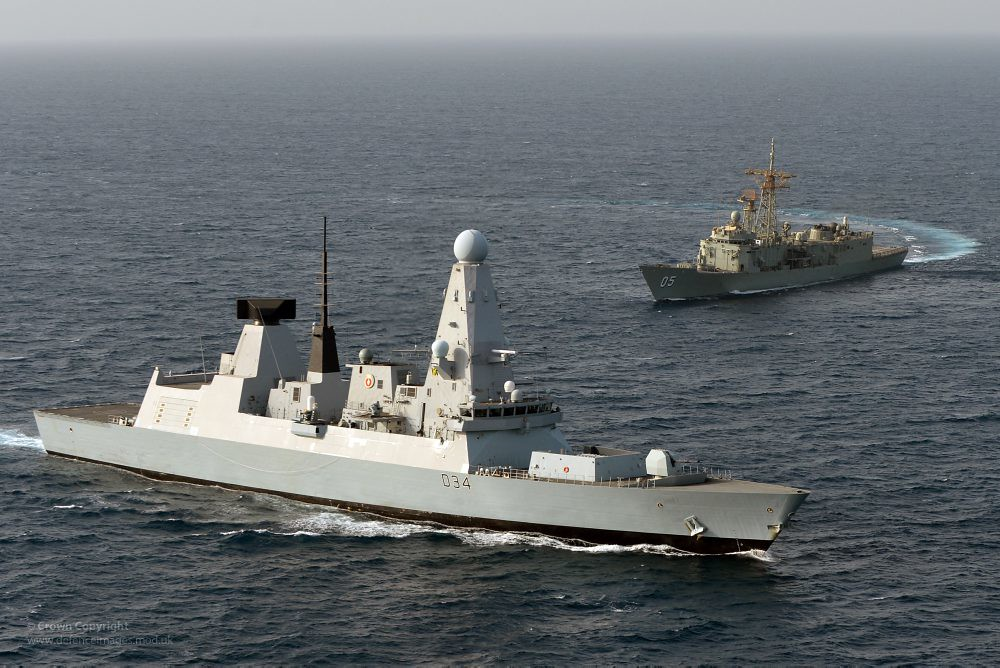 HMS Diamond with HMAS Melbourne