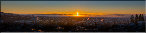 city morning winter panorama cold color oslo norway sunrise nikon view d800panorama