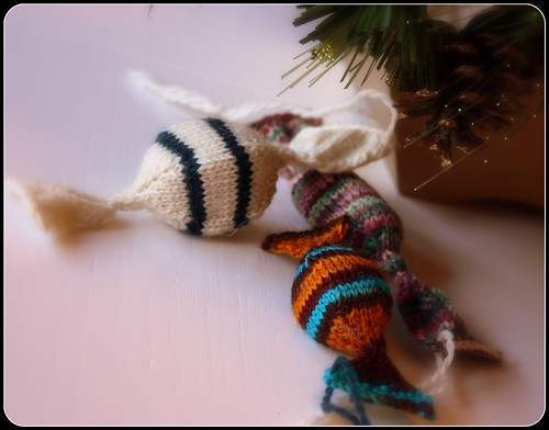 hard candy handknit christmas ornaments | by mediaperuana