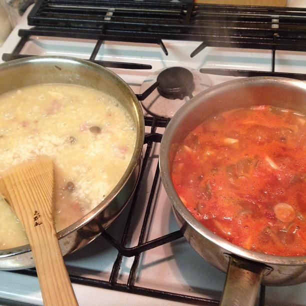 リゾットとトマト煮込みを作ります   flat kurara   Flickr
