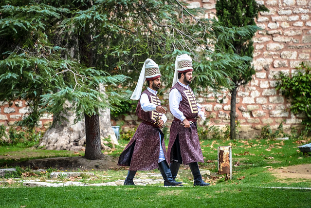 Ottoman Imperial Guards at Topkapi Palace Istanbul Turkey