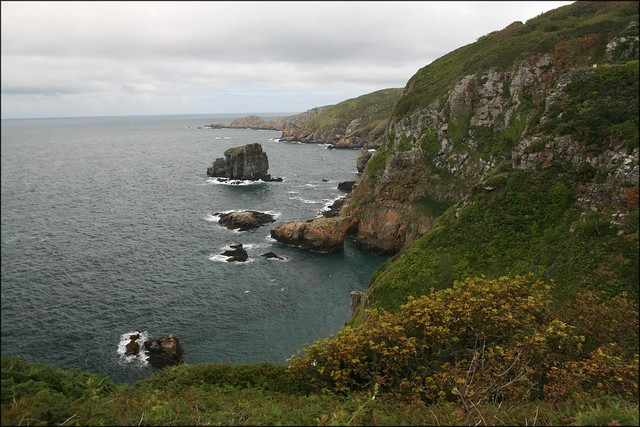 The west coast of Sark
