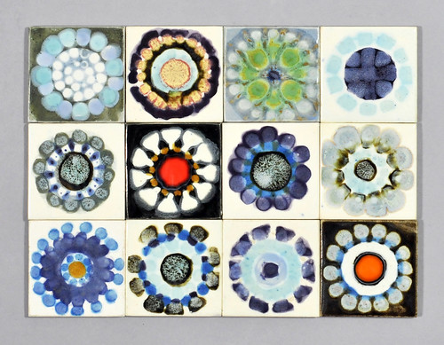 Clive Simmonds wax resist and coloured tiles