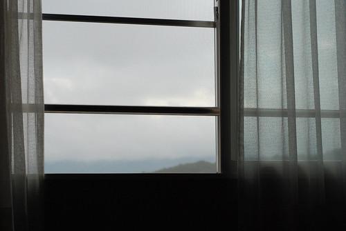 window japan hokkaido cloudy curtain furano hokkaidoprefecture