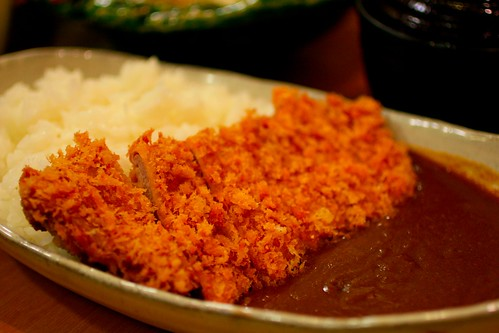 Japanese curry with fried pork | by with wind