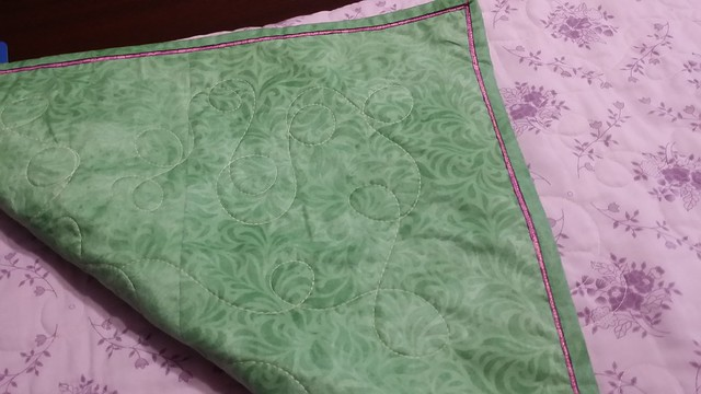 Binding and borders of Junes quilt