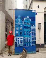 dag mooie schutting #DeNes #Amsterdam