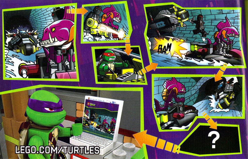 "LEGO Teenage Mutant Ninja Turtles :: ""Stealth Shell in Pursuit"" ; manual iii (( 2013 )) by tOkKa"