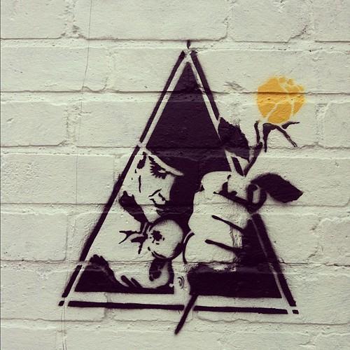 streetart graffiti london stencil clockworkorange ro