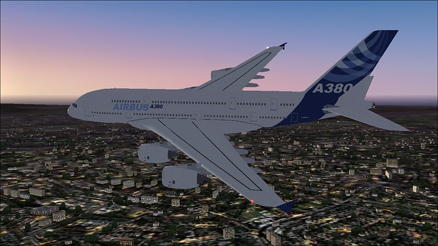 A380 Out of EGCC