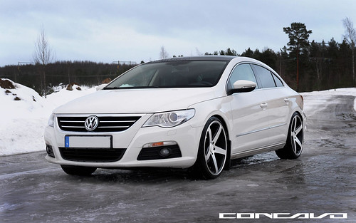 VOLKSWAGON PASSAT CC ON CW-5 MATTE BLACK MACHINED FACE | by Concavo Wheels
