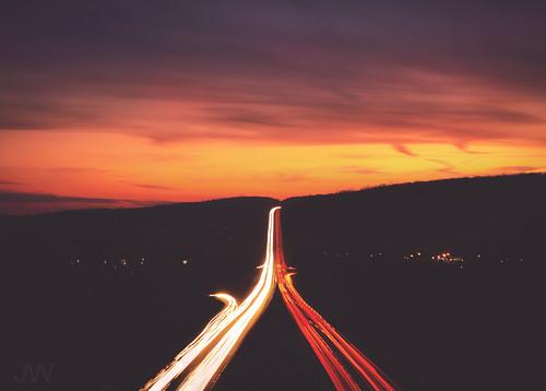 road longexposure travel sunset sun cars colors beautiful landscape highway pretty connecticut tunnel turnpike wilburcrossparkway merrittparkway carstreaks heroestunnel jackwassell