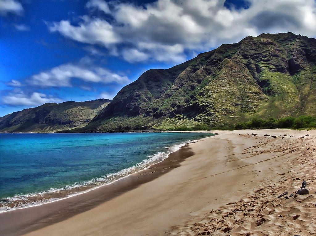 Hawaii - Makua beach - Oahu - USA - HDR