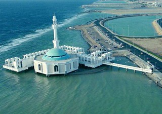 most beautiful mosque in jeddah sea | masjid terapung