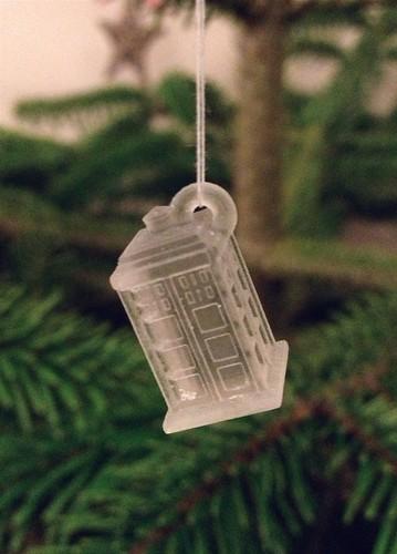 TARDIS ornament freshly printed | by Iain Farrell