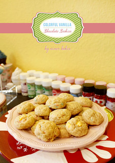 Colorful Vanilla Chocolate Chip Cookies | by niner bakes