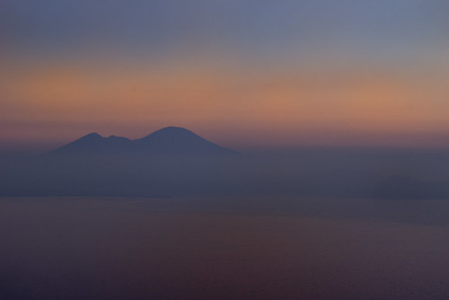 sunrise dawn napoli naples vesuvio bacoli