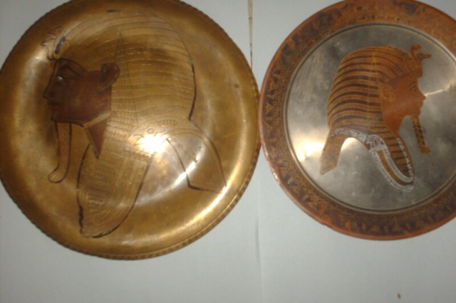 Recent Excavation in Somali Region. Pharaohs from the Land of Punt , the Golden plates of the Pharaoh Tutankhamon 18th dynasty (ruled ca. 1332 BC – 1323 BC)