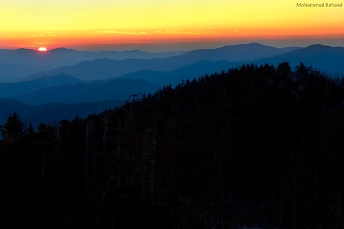 blue sunset mountains canon hour dome smoky smokymountains clingmansdome thebluehour clingmans