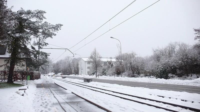Snowing in Feldbrunnen
