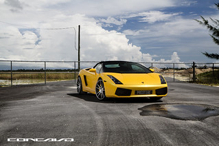 LAMBORGHINI GALLARDO ON CW-S5 MATTE BLACK MACHINED FACE | by Concavo Wheels